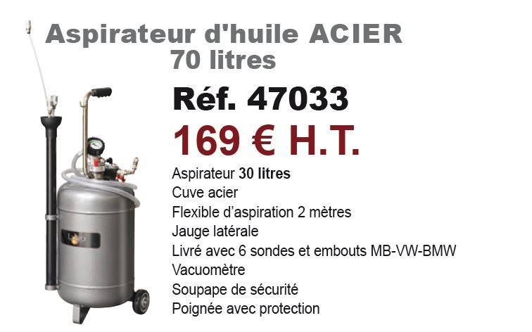 aspirateur d 39 huile acier 70 litres achat mat riel et quipement de garage auto. Black Bedroom Furniture Sets. Home Design Ideas