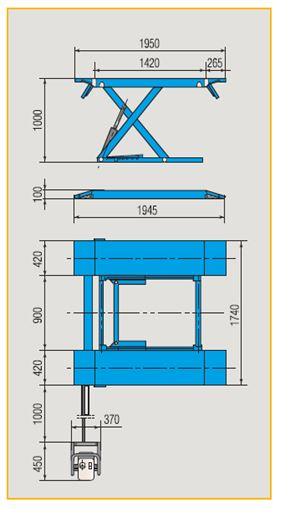 pont l vateur ciseaux profil bas 2500kg ravaglioli achat mat riel et quipement de garage auto. Black Bedroom Furniture Sets. Home Design Ideas