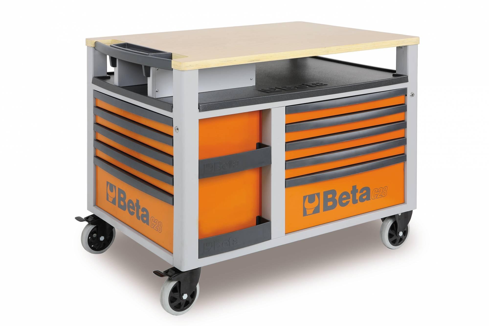 etabli mobile beta orange super tank avec plan de travail. Black Bedroom Furniture Sets. Home Design Ideas