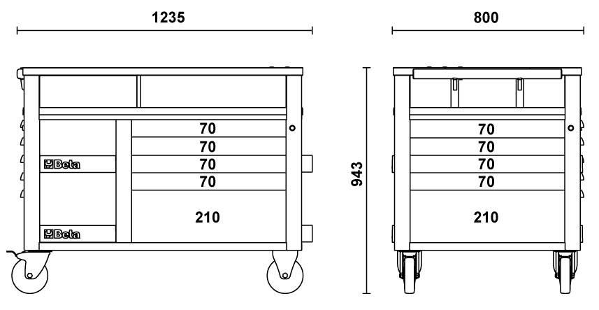 etabli mobile beta orange super tank avec plan de travail et 10 tiroirs de rangement c28 achat. Black Bedroom Furniture Sets. Home Design Ideas