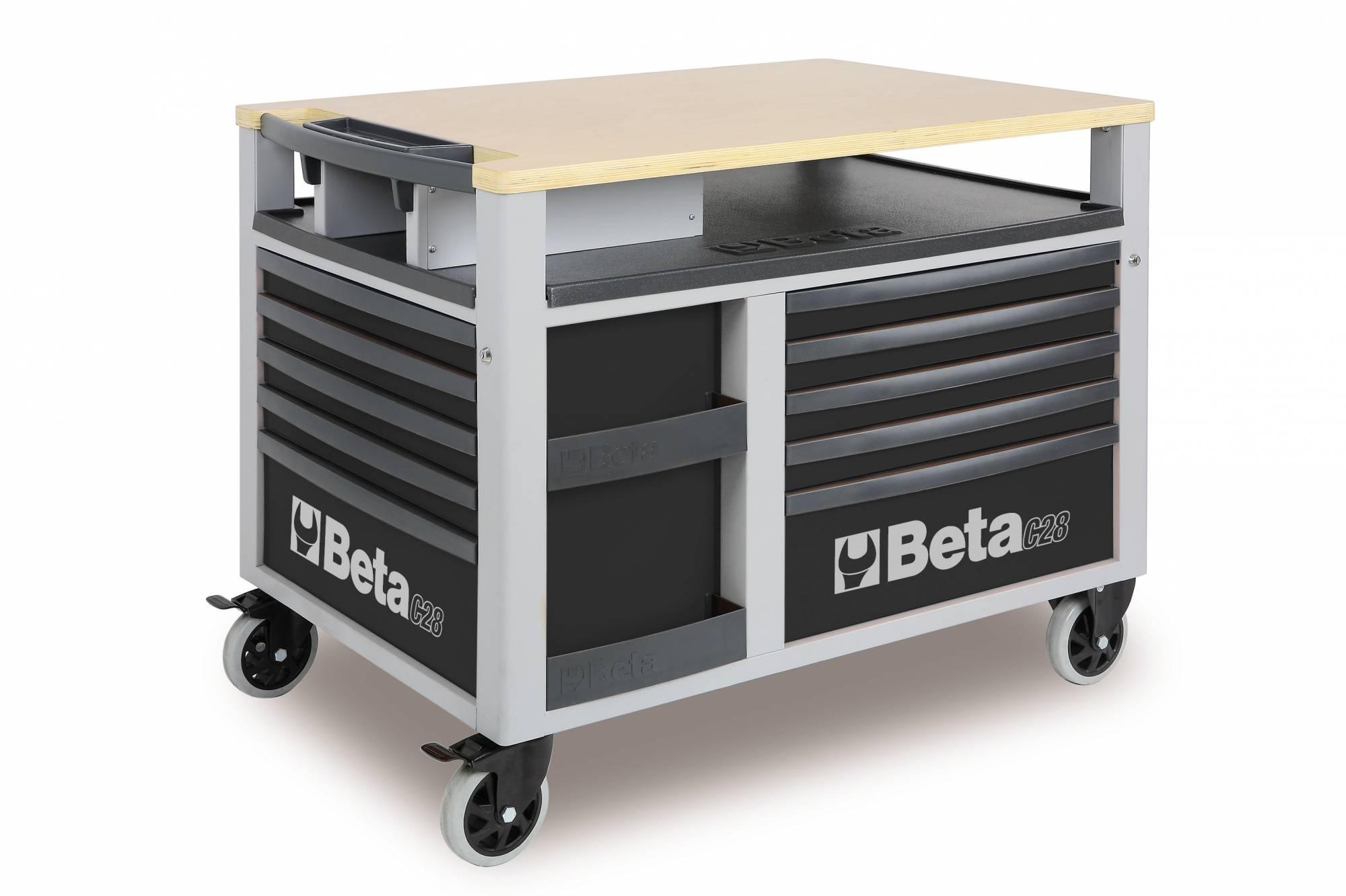 etabli mobile beta gris super tank avec plan de travail et 10 tiroirs de rangement c28 achat. Black Bedroom Furniture Sets. Home Design Ideas