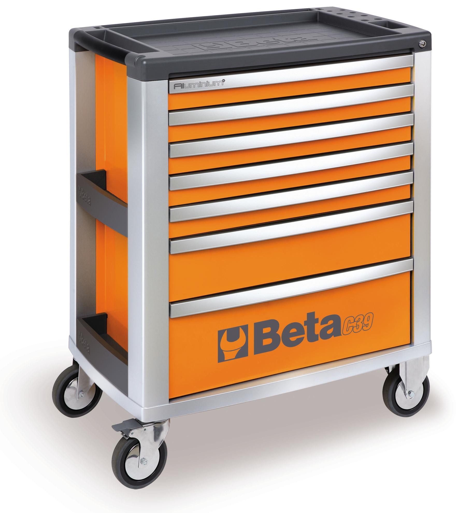 Servante d 39 atelier mobile beta orange 7 tiroirs c39 7 for Achat box garage lyon